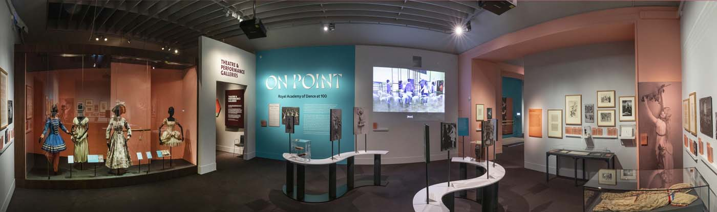 The opening gallery of on Point; Royal Academy of Dance at 100