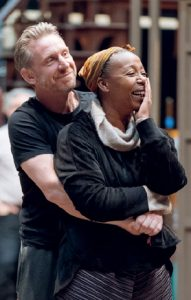 Noma Dumezweni in rehearsal for Harry Potter and the Cursed Child.